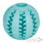 Dog Dental Ball with Menthol Smell for Training and Play