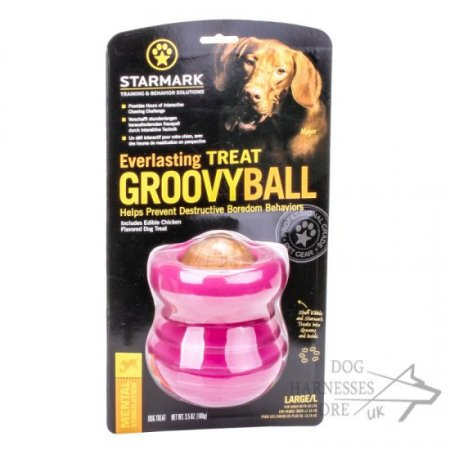 Starmark Everlasting Groovy Ball Dog Chew Toy of Large Size