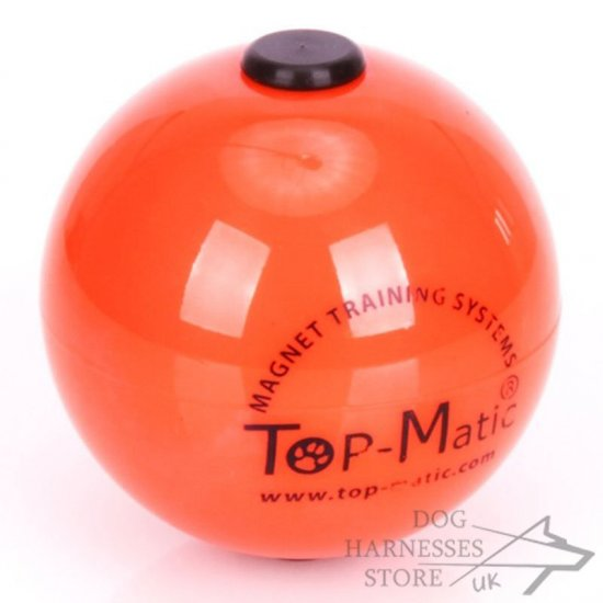 Top-Matic Technic Ball Orange with Inner Magnet for Dog Training