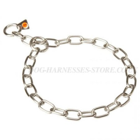 Labrador Chain Collar of Stainless Steel for Behavior Correction