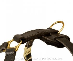 German Shepherd Leather Dog Harness for Walking and Training