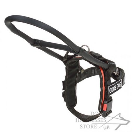 Nylon Guide Dog Harness with Patches and Removable Handle-Frame