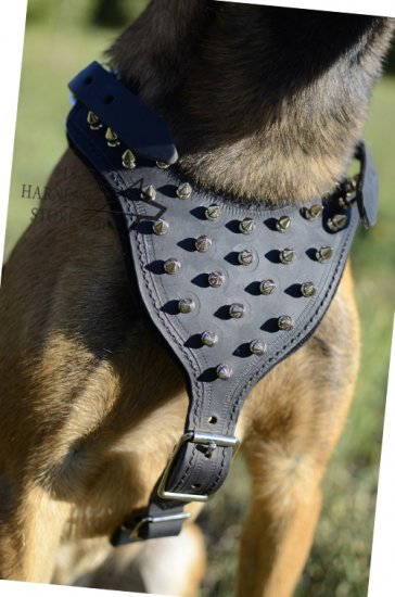 Spiked Dog Harness for Large Dogs Like Shepherds UK