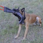 French Linen Bite Rag for German Shepherd and Belgian Malinois