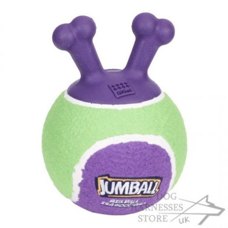 "Dog Ball Fetch Toy ""Jumball"" for Puppies and Small Breeds"