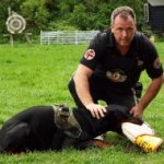 Doberman Schutzhund Training with Bite Sleeve and Jute Cover