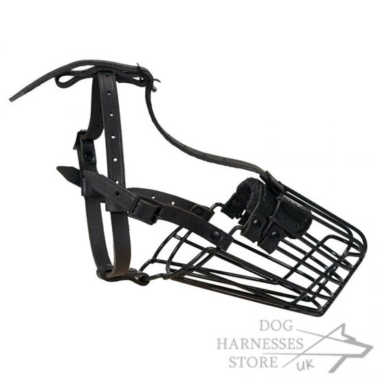 Wire Basket Cage Dog Muzzle