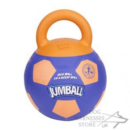 "Dog Toy Rubber Ball with Handle ""Jumball"""