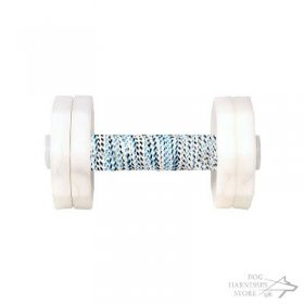 Dog Retrieve Dumbbell 1000 G with Removable White Plates