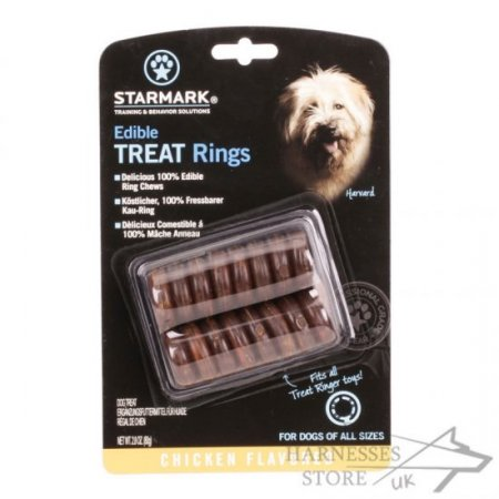 "Healthy Dry Dog Food ""Edible Treat Rings"" with Chicken Flavor"