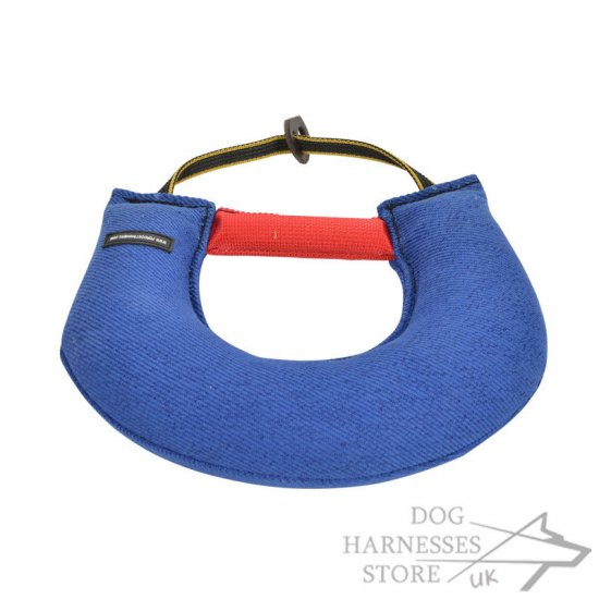 Dog Training Bite Tug Half-Moon Medium-Hard with Two Handles