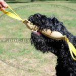 Leather Bite Tug with Two Handles for Black Russian Terrier