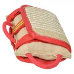 Dog Training Pillow for Biting with Strong Jute Cover, 3 Handles