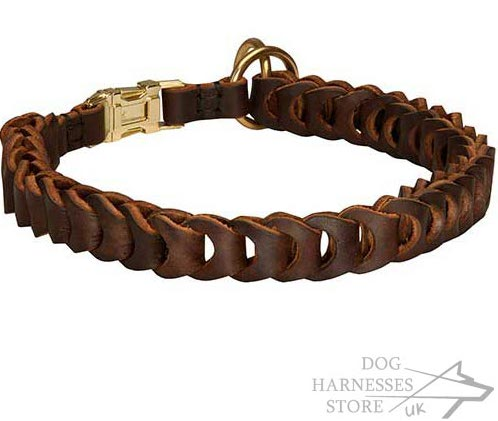 Dog Choker Collar, Braided Leather
