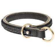 Choker Collar for Dog Behavior Training, Braided Leather Design