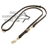 Long Leather Lead, Hands-Free Dog Leash for Walks