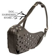 Leather Dog Muzzle Suitable for Attack Training