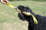 Leather Bite Tug for Black Russian