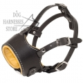 Leather Muzzle UK, Nappa Padded