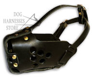 Best Leather Agitation Dog Muzzle UK, Top Quality!