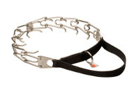 Stainless Steel Dog Pinch Collar with Strong Nylon Handle