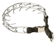 Dog Pinch Collar with Strong Leather Loop, 2.25 mm