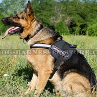 Reflective Dog Harness of Nylon with Patches for German Shepherd
