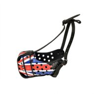 Patriotic Leather Dog Muzzle UK with Union Jack Hand Painting