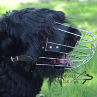 Wire Dog Muzzle for Black Russian Terrier, Good Ventilation