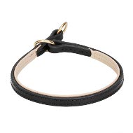 Leather Choke Collar for Dog Training, Soft Nappa Padded