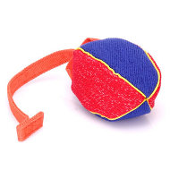 Dog Bite Tug Ball French Linen of Small Size with T-Shape Handle