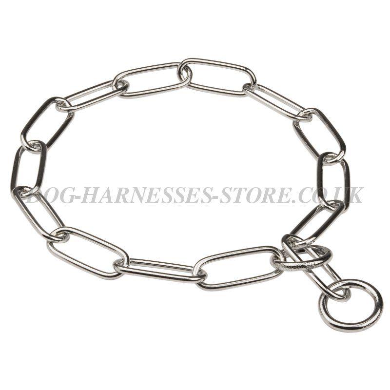 choke chain collar fur saver for large dogs