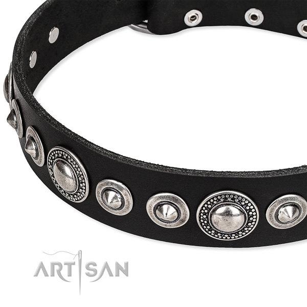 Black Leather Dog Collar Wholesale