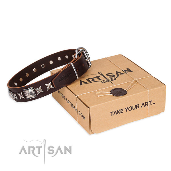 Brown Leather Collars for Dogs