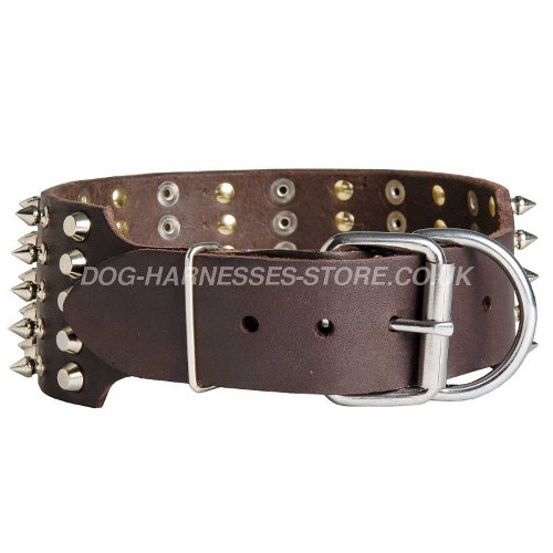 Extra Wide Leather Dog Collars