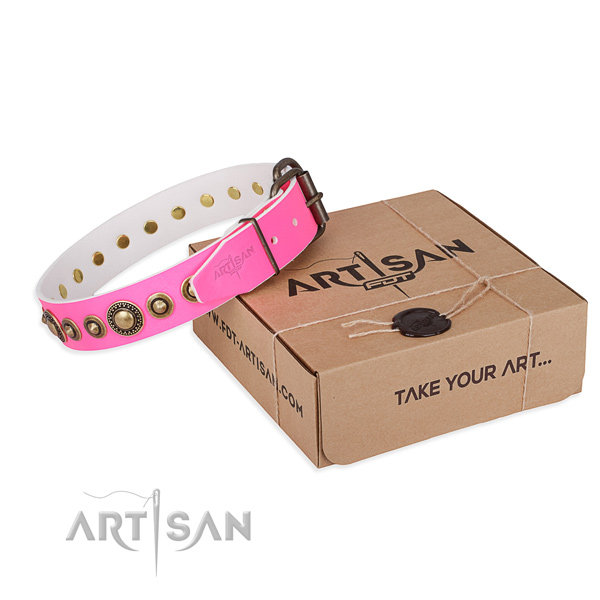 Girl Dog Collars Pink