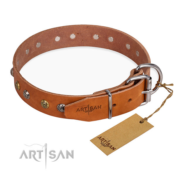 Leather Dog Collars with Studs