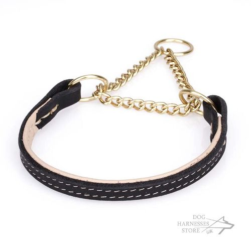 Leather Martingale Collar UK