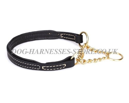 Leather Martingale Collars UK