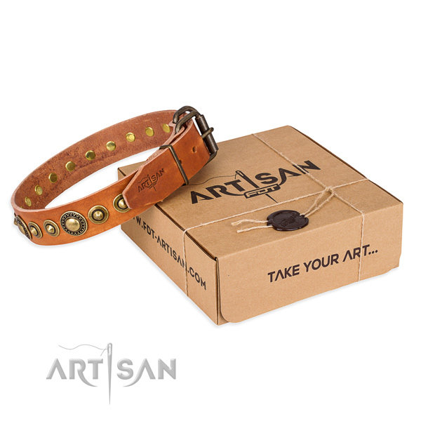 Luxury Leather Dog Collars UK