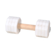 Dog Dumbbell with White Removable Weight Plates, 4.4 lbs