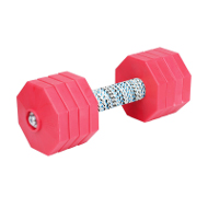 Dog Dumbbell of 2 kg for Schutzhund/IPO/KNPV, Red Plates