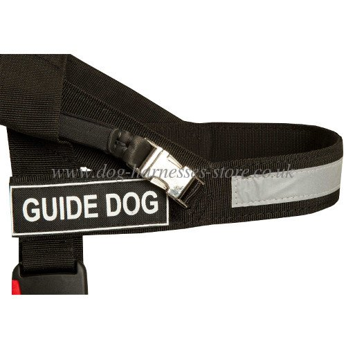 dog harness UK with ID patches, guide harness with identification