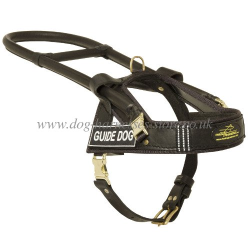 guide dog harness with handy handle-frame