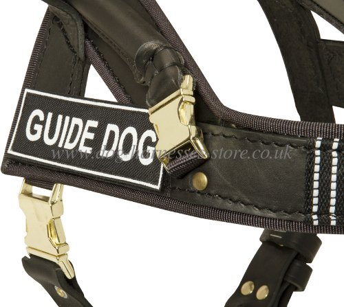 dog harness for guide dogs identification