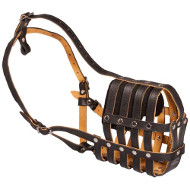 Dog Muzzle UK for Any Snout Padded with Soft Nappa Leather