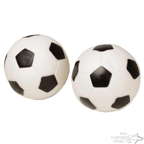 rubber dog soccer ball