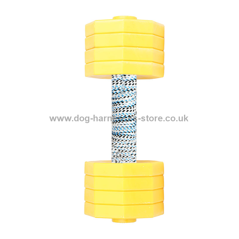 Plastic Dumbbell For Dogs With 8 Removable Yellow Plates 2 Kg
