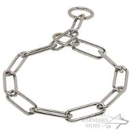 Fur Saver for Large Dogs with Chrome Plated Long Steel Links