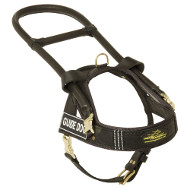 Guide Dog Harness in Black Leather UK